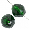 Fire polished 18mm Transparent green
